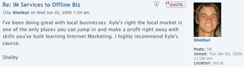 I highly recommend Kyle's course.